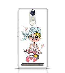 Lenovo K5 Note Case and Cover Girls Scooty Girl for Lenovo K5 Note Multicolor