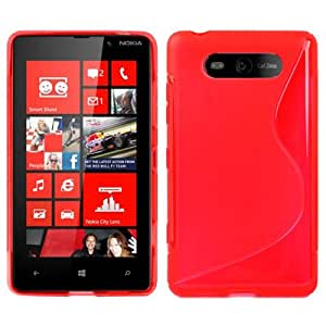 S Line TPU Protection Case for Nokia Lumia 820 (Red)