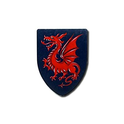 Red Dragon Medieval Shield - 16 Gauge Steel Battle Ready - Blue - One Size