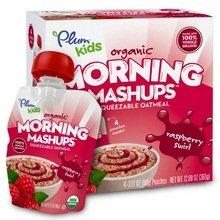 Plum Kids Organic Morning Mashups Raspberry Swirl 4 Count Pack of 6