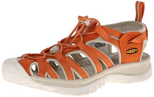 Keen Women'S Whisper Sandal,Burnt Orange/Pumice Stone,7.5 M Us front-972176