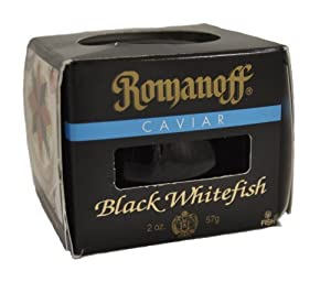 Romanoff Caviar Black Whitefish, 2-Ounce Jars (Pack of 4)