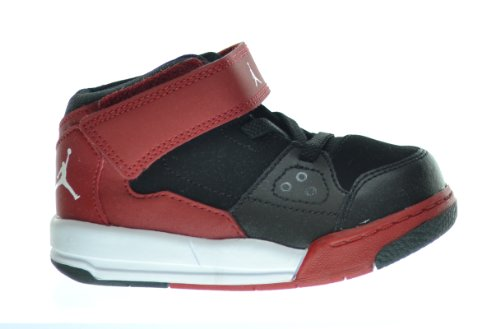 Jordan Flight Origin (TD) Baby Toddlers Basketball Shoes Black/White-Gym Red-Anthracite 602670-002 (3 M US)