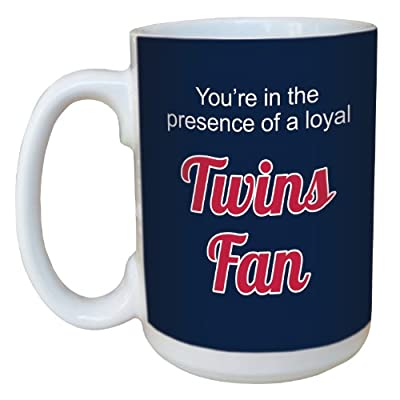 Tree-Free Greetings lm44093 Twins Baseball Fan Ceramic Mug with Full-Sized Handle, 15-Ounce