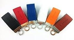 Fortech® Grizzly Orange 32gb USB 3.0 Flash Drives USB Memory Stick Genuine Leather Casing USB Drives Pen Drive Fast Speed Data Traveler(orange 32gb)