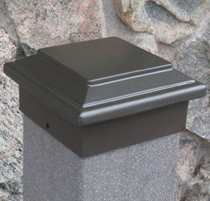 "Titan Post Cap (to match Aurora Deck Light), 5-1/2"" Post, Bronze"