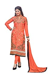 RV Creation Georgette Semi Stitched Straight Suit