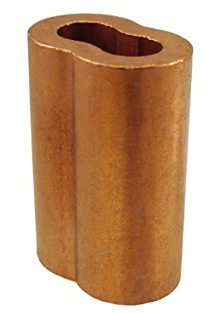 "Loos Cableware SL2-1 50 Piece Plain Copper Duplex Oval Crimping Sleeve Set for 1/32"" Diameter Wire Rope"