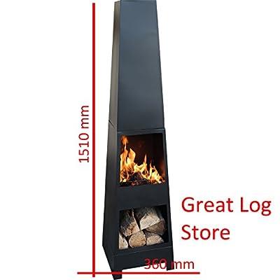 Marko Outdoor Killeen Chimenea Outdoor Garden Pyramid Chimnea Patio Heater Wood Burner Chiminea Steel by Marko