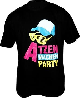 Atzen machen Party design2 T-Shirt Größe M, schwarz