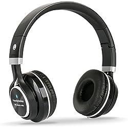Headphones Bluetooth Stereo Over-ear,Cuffia Stereo Dinamica Chiusa Wireless Sportiva ad alta fedeltà Mp3 con 3.5mm Jack & Microfono Riduzione del Rumore per IPhone, Android, Pc ed altri Dispositivi Bluetooth