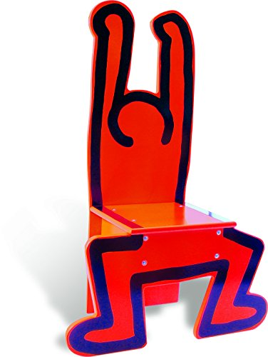 Vilac Keith Haring Wooden Chair, Red - 1