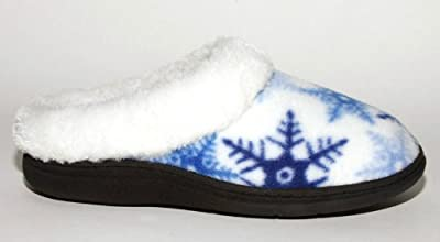Hg Indoor and Outdoor Womens House Slippers Blue Snowflake