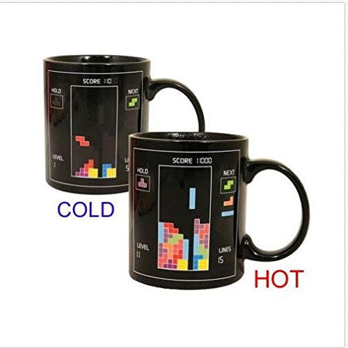 Color-Changing Mug Magic Tetris Coffee Heat Cold/Hot Temperature Sensitive Cup