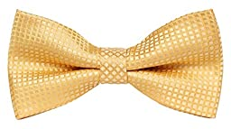Flora&Fred Men\'s Designer Handmade Solid Color Bow Tie Yellow