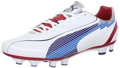 Puma evoSPEED 4 FG 102581, Herren Sportschuhe - Fußball, Weiss (white-limoges-ribbon red 01), EU 40 (UK 6.5) (US 7.5)