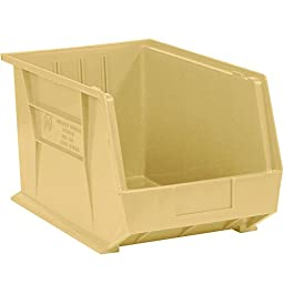 Aviditi BINP1811V Plastic Stack and Hang Bin Boxes, 18\