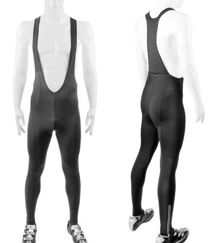 Big Tall Men'S Stretch Fleece Bib Tights 3Xl Padded front-11789