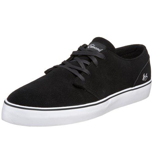 eS Men's Edward Technical Skate Sneaker,Black/White,14 M US