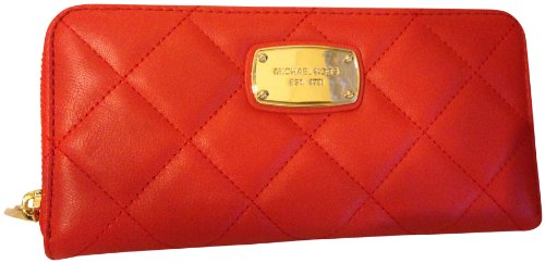 Michael Kors Hamilton Quilt Genuine Leather Za Continental Wallet Mandarin
