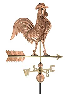 Good Directions 515P Large Rooster Weathervane, Polished Copper