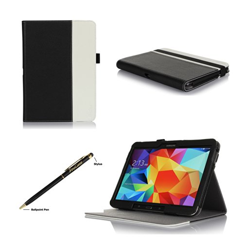 Procase Samsung Galaxy Tab S 8.4 Premium Folio Case With Stand, Multiple Viewing Angles Stand Cover Case For 8.4 Inch Galaxy Tab S (Sm-T700) (Black/White)
