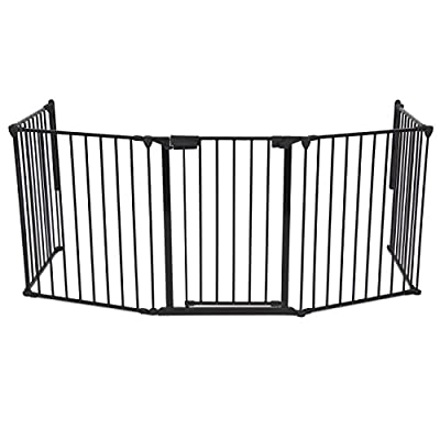 Best Choice Products® Baby Safety Fence Auto Close Hearth Gate BBQ Fire Gate Fireplace Metal Plastic