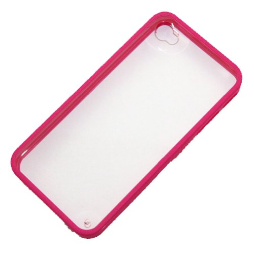 Zehui New Rose Back Clear Hard Coating Cover Case W/colored Bumper for Iphone 4g 4s 4gs -Best Deals And Discounts 2013