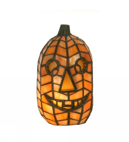 "Meyda Lighting 68100 8.5""H Jack O'Lantern Accent Lamp"