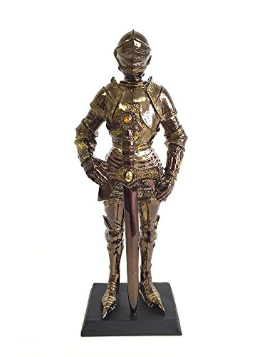 Medieval Armored Knight with Sword Statue Figurine (Commonwealth Games Costumes)