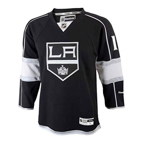 Anze Kopitar Youth Gioventu Los Angeles Kings NHL Reebok Black Replica Jersey Maglia