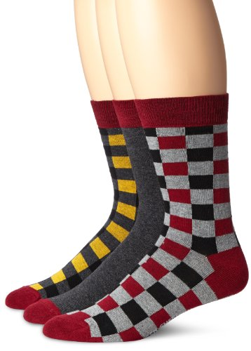 Ben Sherman Men's 3 Pack Phillip Pattern Socks