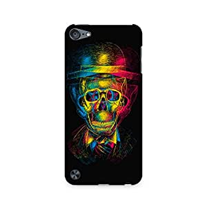 RAYITE Skull Anaglyph Premium Printed Mobile Back Case For Apple iPod Touch 5