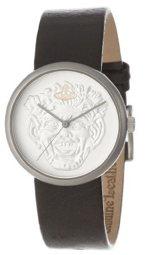 Vivienne Westwood VV021SLBR - Reloj unisex, correa de cuero color marrón