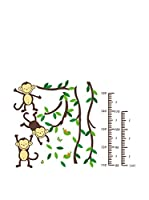 Ambiance-sticker Vinilo Decorativo Tree, monkeys and birds (Kidmeter)