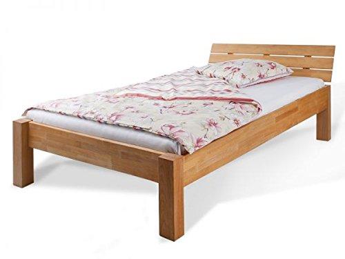 Bett Prag Buche massiv 140 x 200 cm