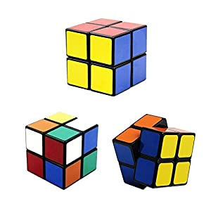 6-Pack Popular Magic Cube Puzzle - Including 2x2x2 3x3x3 4x4x4 5x5x5 Speedcubing White Puzzle, Megaminx Puzzle Cube and Gold Black Mirror Cube