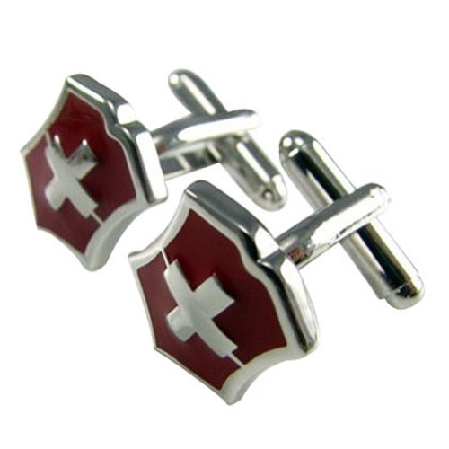 Worldfashion Handsome Swiss Army Knife Pattern High Quality Men's Unique Cufflinks Come In a Nice Gift Box by WorldFashion