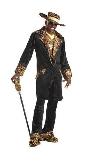 Mens Adult Mens Pimp N Ho Leopard Outfit Mac