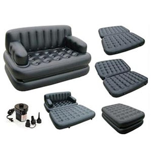 5 in 1 sofa cum bed leather look air lounge where can i. Black Bedroom Furniture Sets. Home Design Ideas