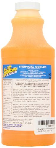 Sqwincher 020229-Tc 32 Oz Liquid Concentrate, 2.5 Gallon Yield, Tropical Cooler Flavor (Case Of 12)