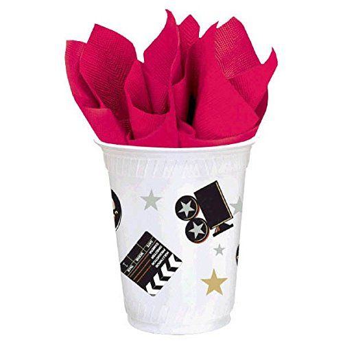 Amscan Star Studded Hollywood Themed Party Director's Cut Cups (8 Piece), Black/White, 5.9 x 3.8""