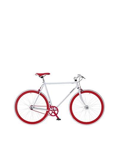 Coppi Bicicleta Acero Racing Frame 28 Fixed Blanco / Rojo