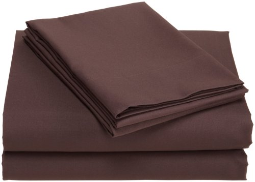 Divatex Home Fashions Microfiber Full Sheet Set, Dark Chocolate