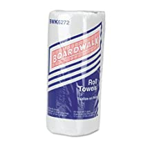 "Boardwalk 6272 Household Paper Towel Roll, 2-Ply Perforated, 9"" Width x 11"" Length, White, 85 Sheets per Roll (Pack of 30)"