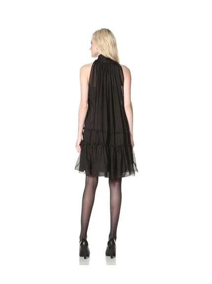 L.A.M.B. Women's Bow Neck Chiffon Dress