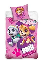 Paw Patrol Sky and Everest Girls 100% Cotton Single Duvet Cover By BestTrend®