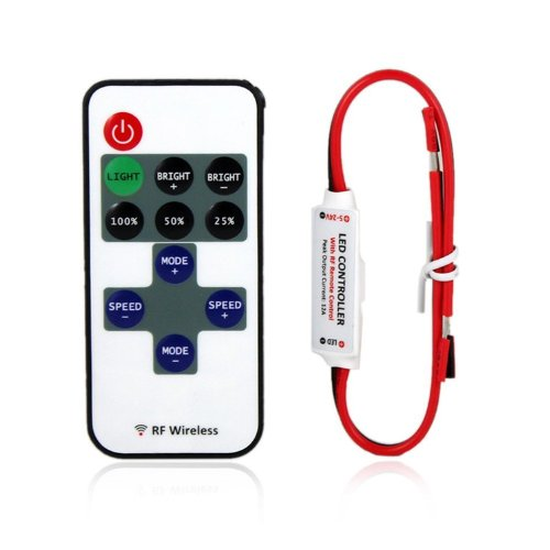 Mini Led Controller Dimmer With Rf Wireless Remote Control Dc 5~24V 12A
