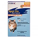 Zodiac Spot On Flea Control For Cats And Kittens -- 4 Tubes