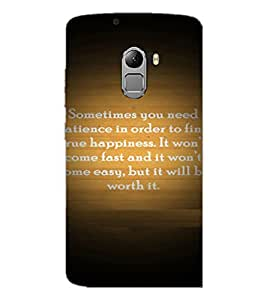PrintDhaba Quote D-4922 Back Case Cover for LENOVO K4 NOTE A7010a48 (Multi-Coloured)
